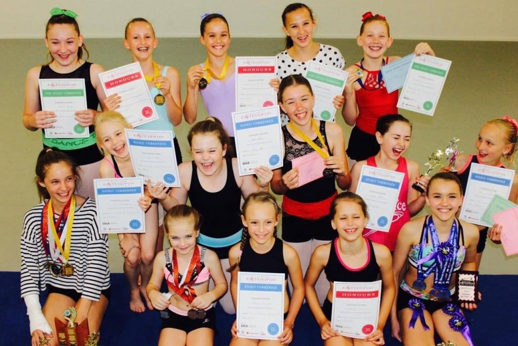 Prize winning dance students